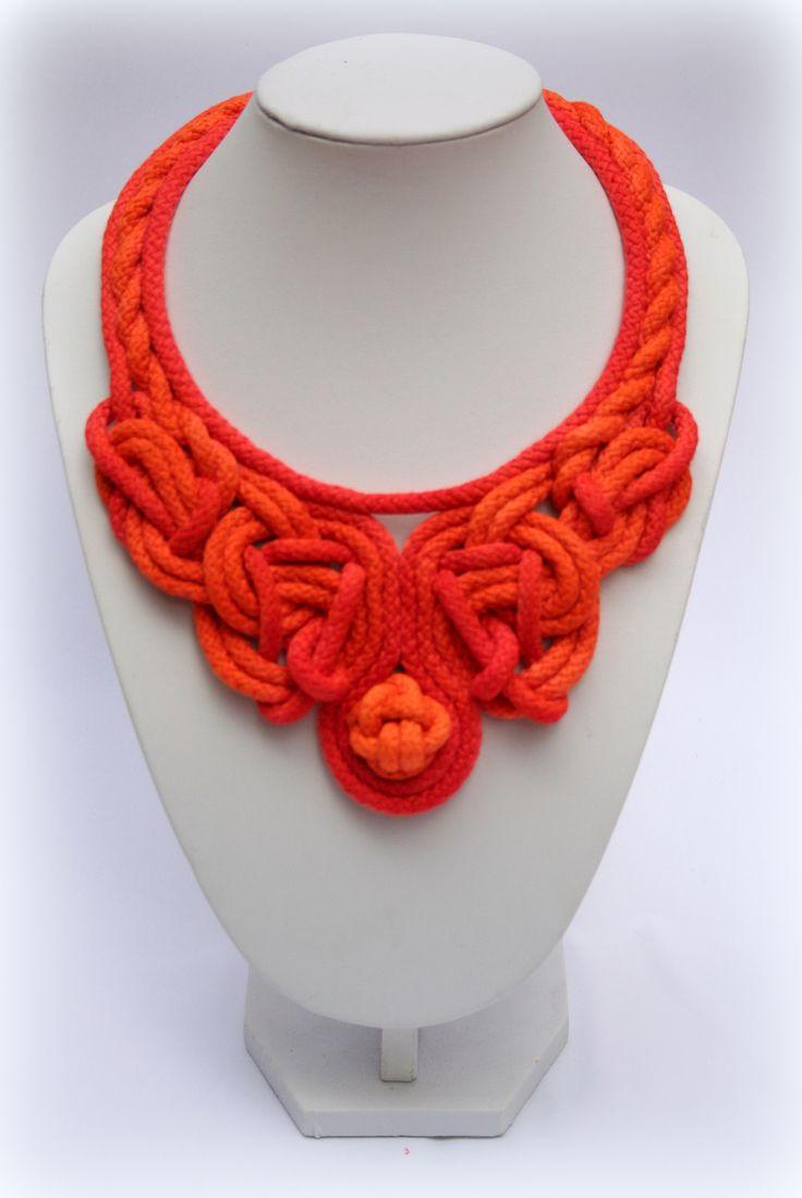 Special orange necklace
