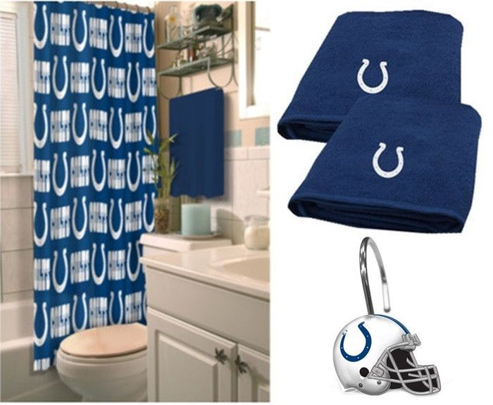 Indianapolis Colts NFL Deluxe Bath Set At Sportsfansplus.com