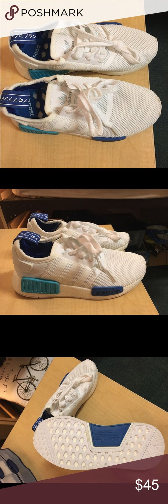 Never worn men's adidas sneakers Never worn, white adidas shoes, men's size 5 Adidas Shoes Athletic Shoes
