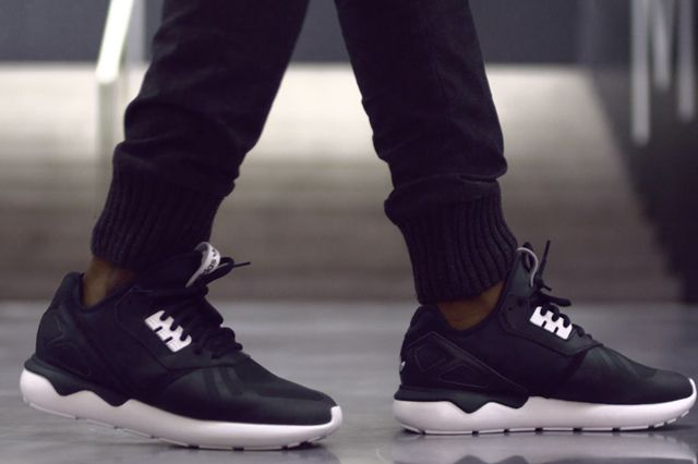 Adidas adidas Originals Black Tubular Defiant Trainers Asos