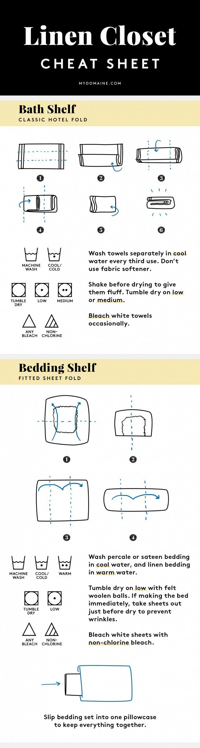 How to Launder and Fold Everything in Your Linen Closet