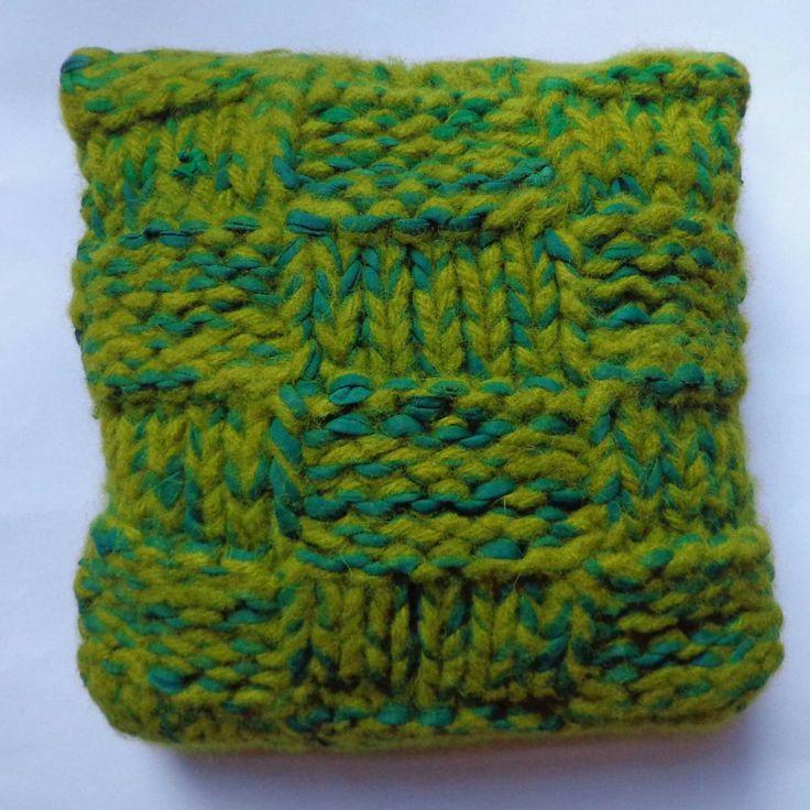 More Big Knitting - Textured Cushion
