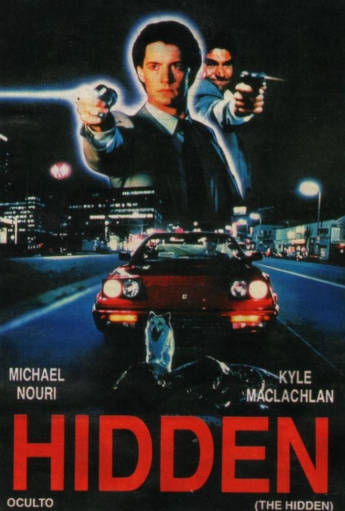 The Hidden (1987) FBI agent Lloyd Gallagher (Twin Peaks' Kyle MacLachlan)  partners with detective Tom Beck (Michael Nouri) to take down a deadly fugitive - who just so happens to be a parasitic alien.