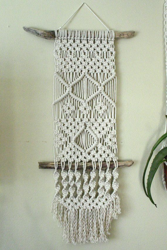 Macrame Wall Hanging on Driftwood by ViolaMaye