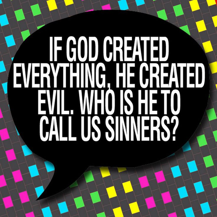 God created evil yet he blames it on his creation. Talk about the master of cop-outs.
