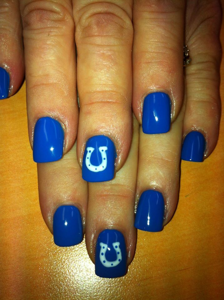 37 best Indianapolis Colts Makeup Hair & Nails images on Pinterest ...