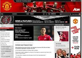 Here is a image of the Manchester united website, it is almost identical with the Liverpool website