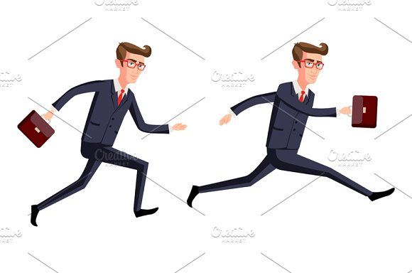 businessman running dynamic by Rommeo79 on @creativemarket