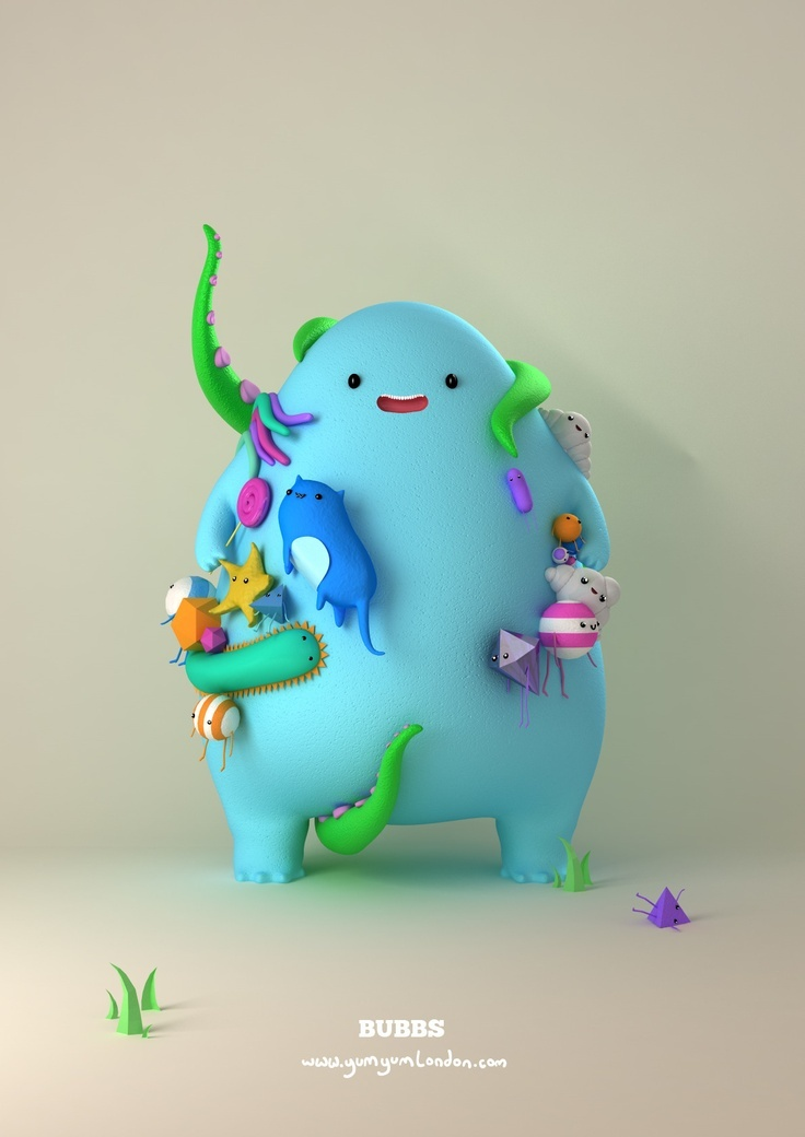 Mijbil Creatures: Feelin colourful today!