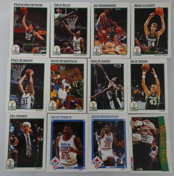 199192 hoops milwaukee bucks team set of 12 basketball