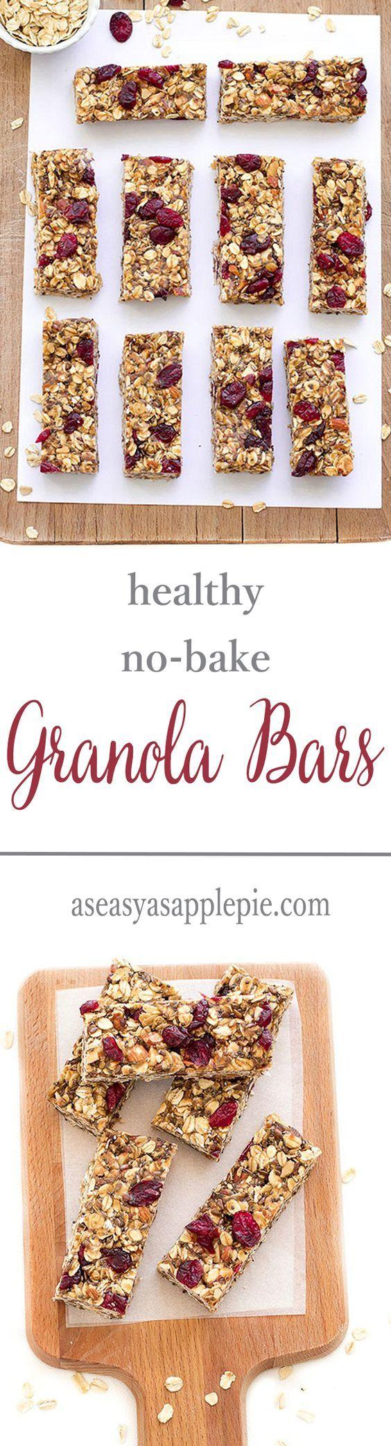 These healthy no-bake granola bars are vegan, gluten-free and refined sugar-free.                                                                                                                                                                                 Más