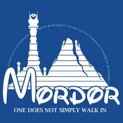 "This Disney-inspired logo. | 23 Pictures Only ""Lord Of The Rings"" Fans Will Think Are Funny"