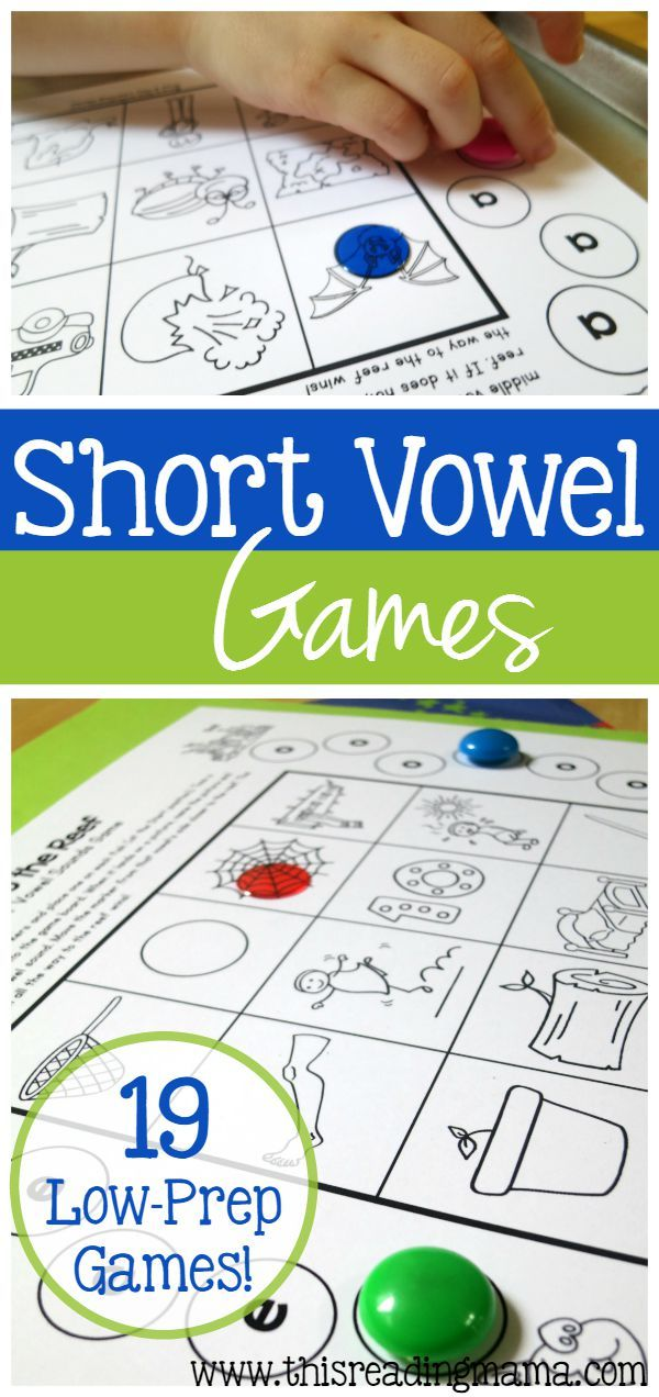 19 FREE Low-Prep Short Vowel Games ~ Just Print & Play | This Reading Mama