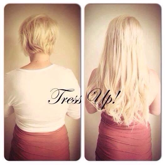 Tress Up Hair Extensions in Bristol sent in these before and after pictures using Russian Standard Prestige Hair Extensions bought from http://evpo.st/1lKbe3p