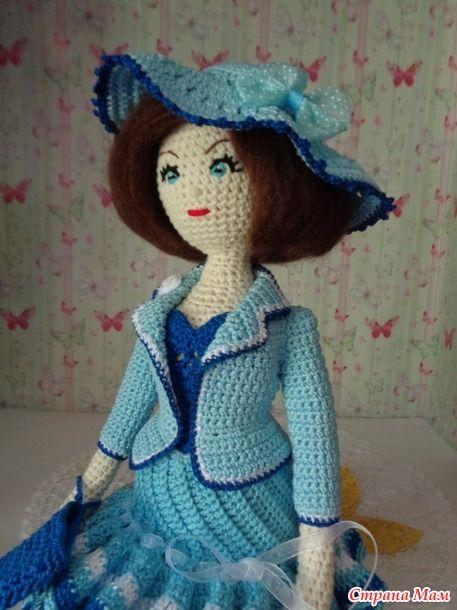 Здравствуйте все, кто заглянул на страничку дневника!!! Решила без долгого перерыва выложить еще одну куколку, которую уже вязала сама, основываясь, хоть и на небольшой, опыт в вязании куколок.