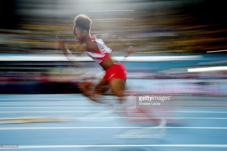 Tianna Bartoletta of the #US competes during the 2015 IAAF/BTC World Relays at Thomas Robinson Stadium in #Nassau, #Bahamas (Photo by Streeter Lecka) | #IAAF #WorldRelays #athlete