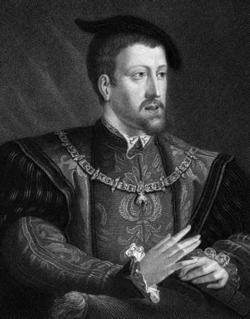 Holy Roman emperor (1519–56), king of Spain (as Charles I; 1516–56), and archduke of Austria (as Charles I; 1519–21), who inherited a Spanish and Habsburg empire extending across...