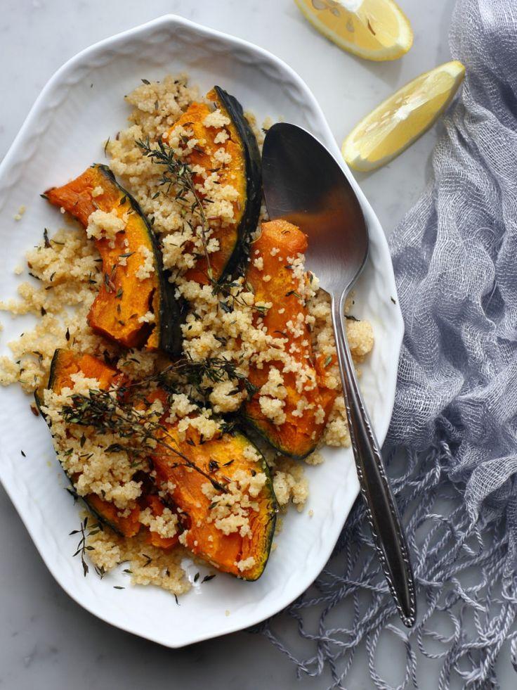 焼きかぼちゃとクスクスのサラダ   Ms FOODIE - ジェイミー・オリバーのレシピを東京で再現するレシピブログ