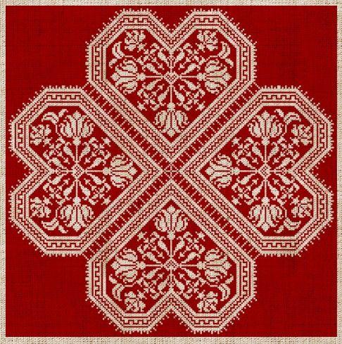 The Flowering Heart Romantic CrossStitch Pattern 4 by modernfolk