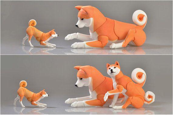 Artikulierte Doll BDZ Hund-Akita inu