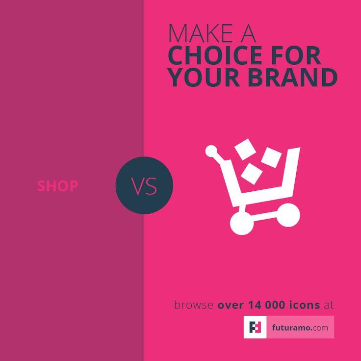 Make a choice for your brand. Say it better with Futuramo. https://futuramo.com/ #icons #futuramo #app #brands #branding