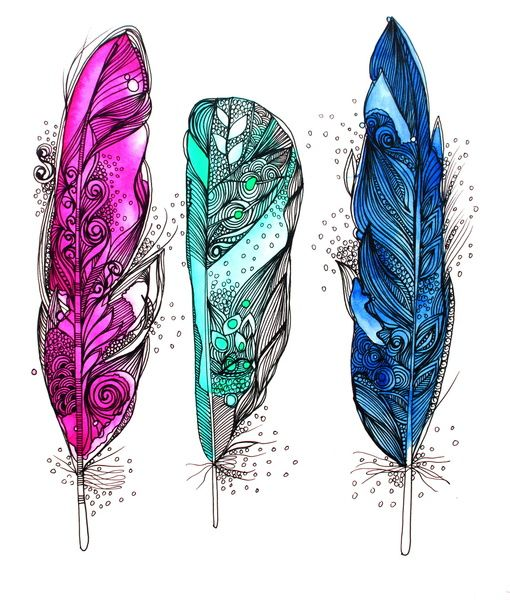 25 best ideas about feather design on pinterest feather for Colors that pop out