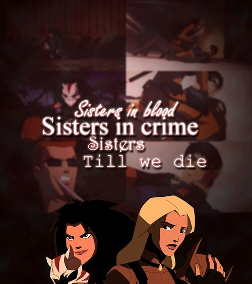 Young justice Artemis and Jade ( Cheshire )