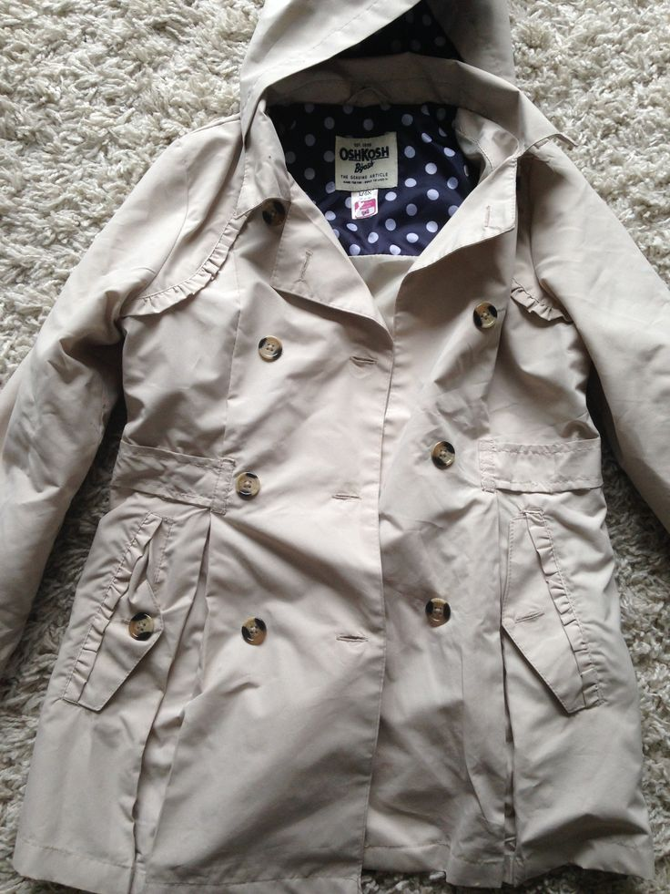 Osh Kosh - Khaki Lightweight Jacket A. Kohls - $30 B. None C. I wanted a cute and functional jacket for wearing to school/special occasions, my daughter loves this jacket!!