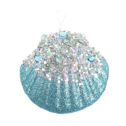 St. Nicholas Square® Glitter Seashell Christmas Ornament