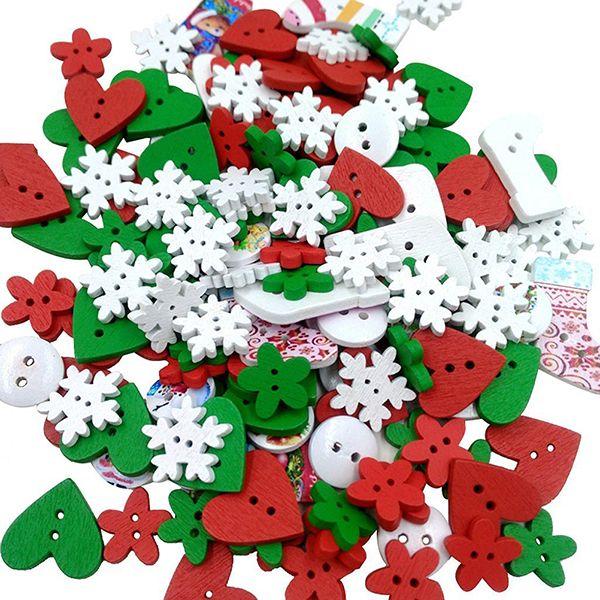 Деревянные Швейных Кнопки Кнопка малыша Скрапбукинга DIY Craft Свадебные Украшения (Рождество) купить на AliExpress