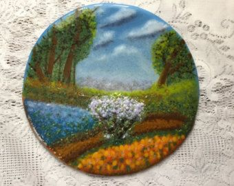 fused glass wall art on Etsy, a global handmade and vintage marketplace.