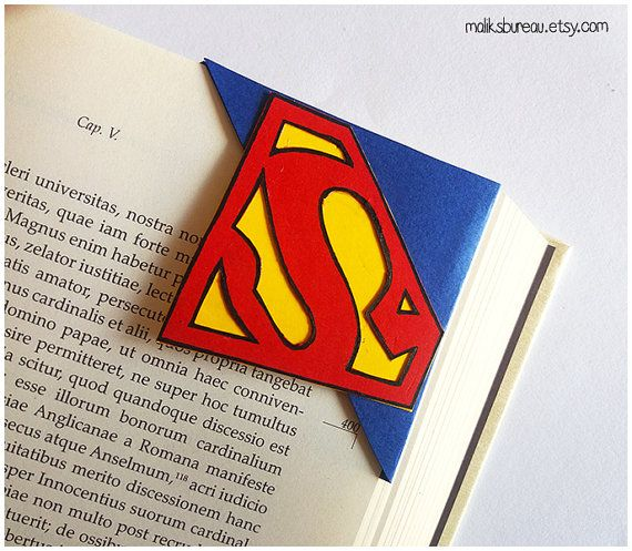 supermansupergirl corner bookmark by maliksbureau on etsy