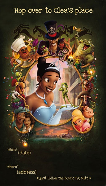 fleetingthing: princess and the frog birthday party
