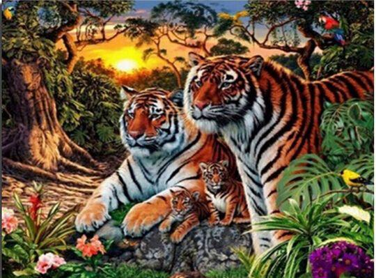 Goedkope home decoratie tijger in de jungle 30x40cm borduurwerk ronde diamant boor strass geplakt ambachten handwerk gift, koop Kwaliteit diamant schilderen kruissteek rechtstreeks van Leveranciers van China:  onze winkel te bezoekenklik hieronder om het onderwerp productschilderachtigedieren bloem