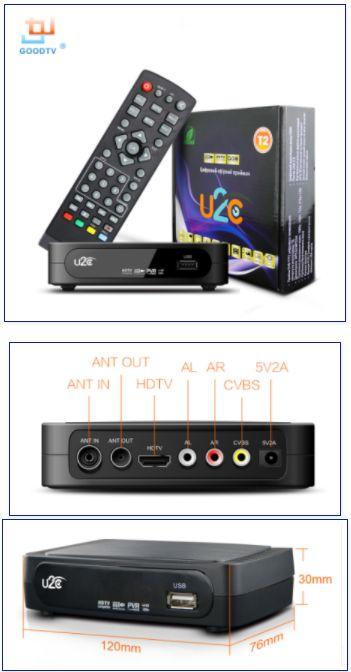 GOODTV DVB-T2 U2C. Телевизионная приставка, рессивер, приемник, Box для приема ТВ сигнала. Бесплатное TV России.