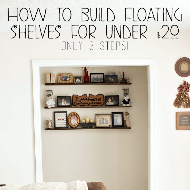 How to Build Floating Shelves for Under $20--2