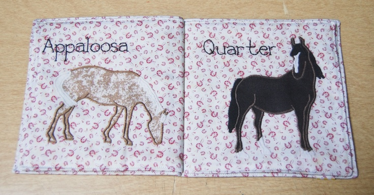 Horses Cloth Book BY VICTORIA VAN DER LAAN