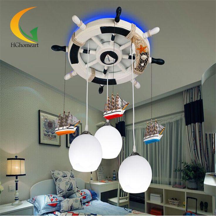 194.60$  Watch now - http://aliw39.worldwells.pw/go.php?t=32767517208 - 110V 220V E27 Glass Ball Light Modern Chandelier Mediterranean Baby Room Led Chandeliers Led Design Children's Ceiling Lights 194.60$
