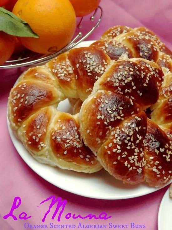 Algeria: Mouna Oranaise   Orange Scented Algerian Sweet Buns   (ar: these were really yummy)