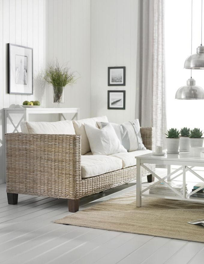 living room or perhaps a sun room using wicker sofa.   Fantastic Furniture have coffee tables and shelves in this style