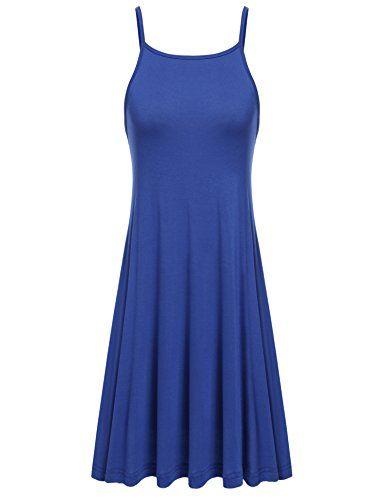 Only Damen Sommerkleid Trägerkleid Maxikleid Slip Dress mit Print Casual