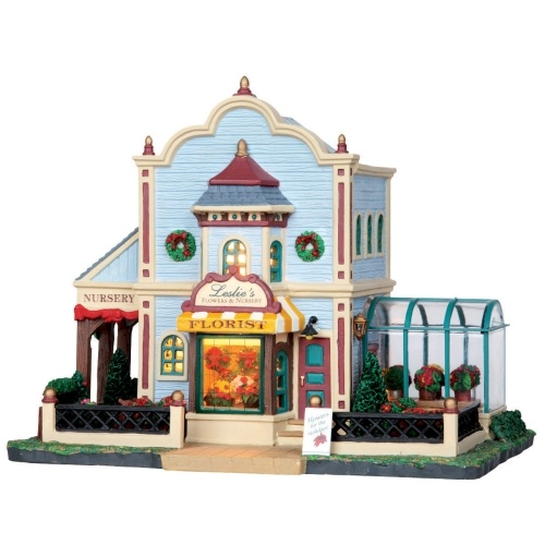 "Lemax 8"" Porcelain Village Building Leslie's Nursery ($36.99 Ace Hardware)"