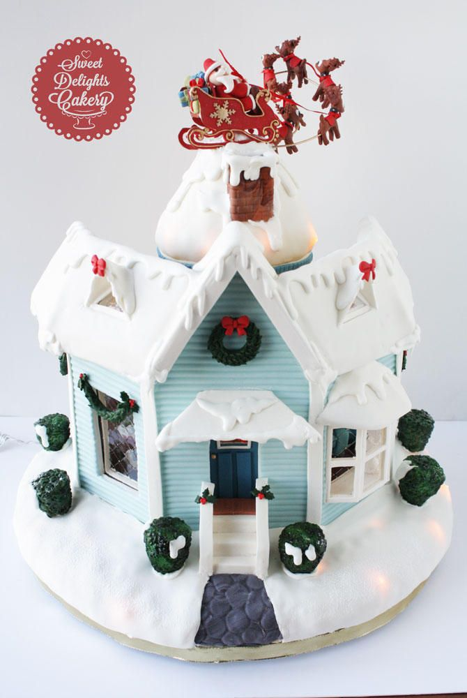 T'was The Night Before Christmas Gingerbread House II   Cookie Connection