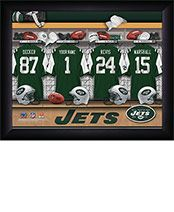 Personalized NFL Jets Locker Room Print $34.98