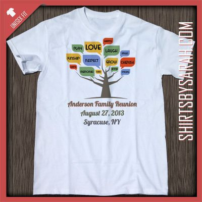 word tree family reunion shirt custom family reunion shirts shirts by sarah custom