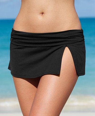La Blanca Solid Banded Swim Skirt