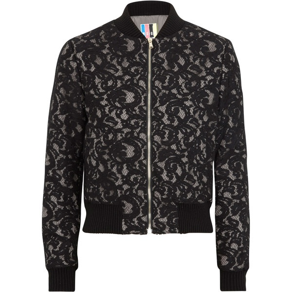 MSGM Lace bomber jacket ($615) ❤ liked on Polyvore