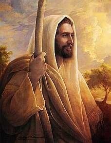 It's Jesus with a staff