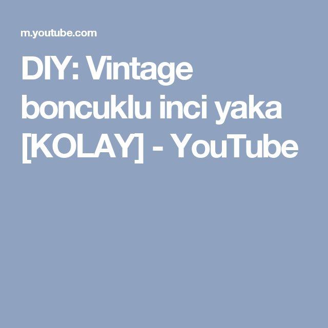 DIY: Vintage boncuklu inci yaka [KOLAY] - YouTube