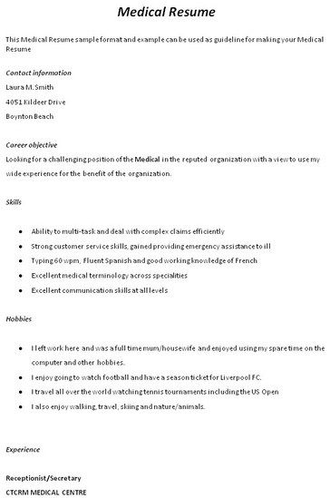 medical assistant resume no experience httpgetresumetemplateinfo3499 - Medical Assistant Resume With No Experience